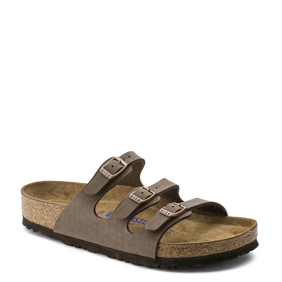 Birkenstock Women's Florida Soft Footbed - Mocha | Birkibuc 053881 - ShoeShackOnline