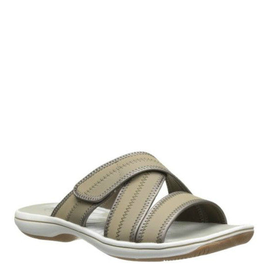 Clarks Women's Brinkley Arney Slide - Greystone 06218 - ShoeShackOnline