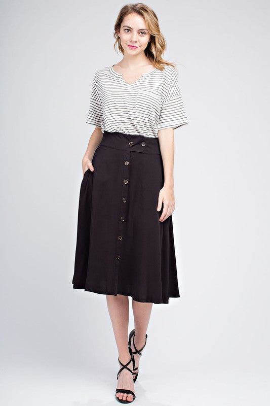 Mittoshop Women's Twill Flare Skirt