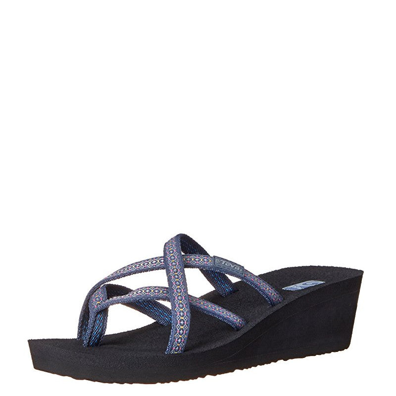 Teva Women s Mush Mandalyn Wedge - Rumi Blue 1000099 - ShoeShackOnline 5aee6b91619d