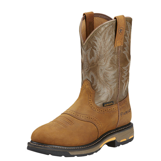 Ariat Men's Workhog Pull-On - Aged Bark/Army Green 10001188 - ShoeShackOnline