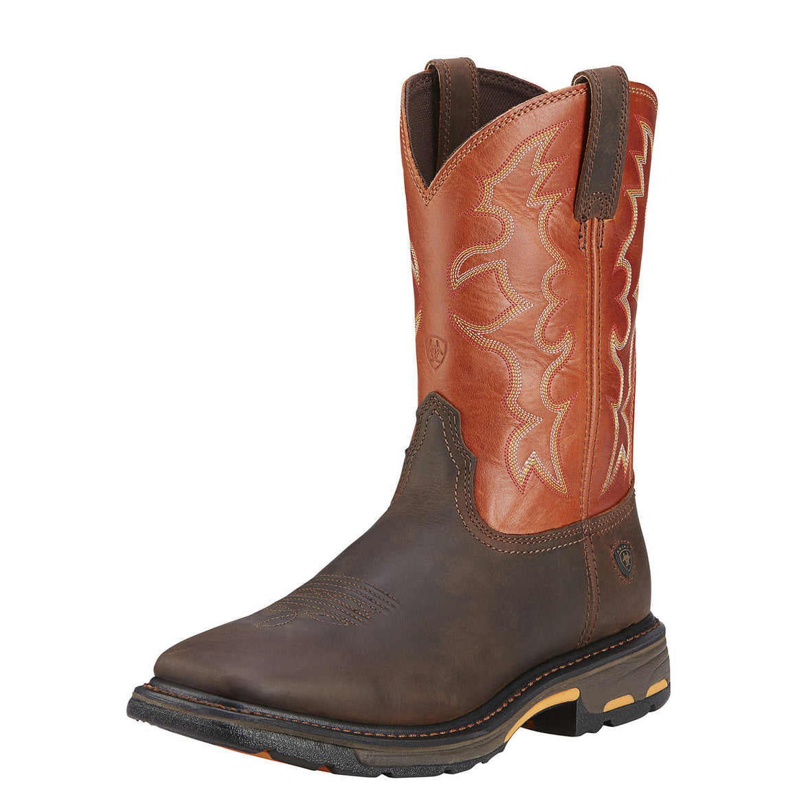 Ariat Men's Workhog Wide Square Toe - Dark Earth/Brick 10005888 - ShoeShackOnline