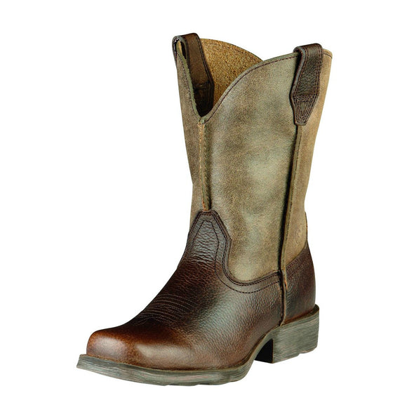 "Ariat Kid's 6"" Rambler Western Boots - Earth/Brown 10007602 - ShoeShackOnline"