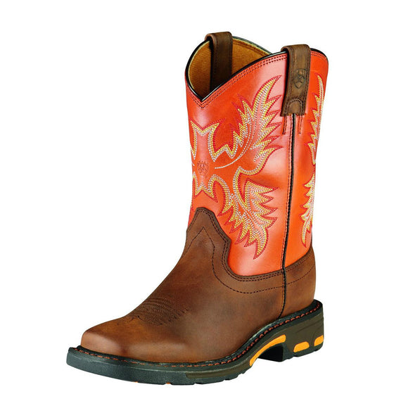 Ariat Kid's Workhog - Dark Earth 10007837 - ShoeShackOnline