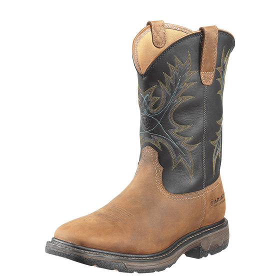 "Ariat Men's 11"" Workhog WP Work Boot - Aged Bark/Black 10010132 - ShoeShackOnline"