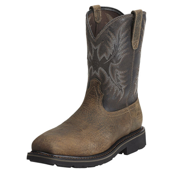 "Ariat Men's 10"" Sierra Puncture Resistant Steel Toe Work Boot - Earth 10012948"
