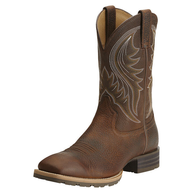 "Ariat Men's 11"" Hybrid Rancher Western Boot - Brown Oiled Rowdy 10014070 - ShoeShackOnline"