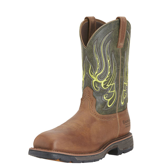"Ariat Men's 11"" Workhog Mesteno Waterproof Composite Toe Work Boot - Rust 10015400"