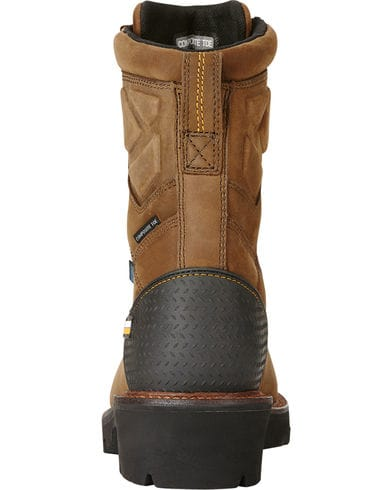 "Ariat Men's 8"" Powerline H2O Composite Toe Work Boot - Brown 10018566 - ShoeShackOnline"