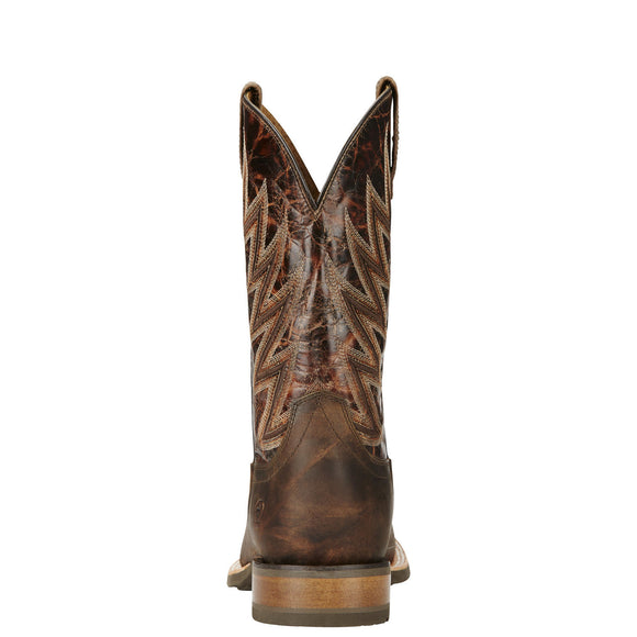 "Ariat Men's 11"" Challenger Western Boots - Branding Iron Brown 10018695 - ShoeShackOnline"
