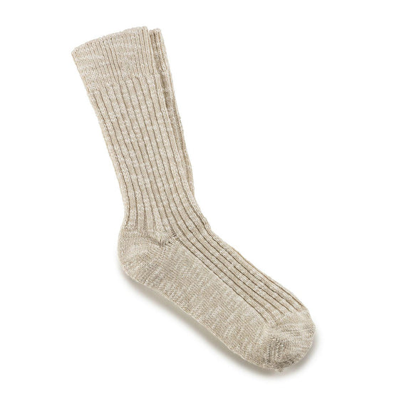Birkenstock Women's Fashion Slub Sock - Beige White 1002437 - ShoeShackOnline