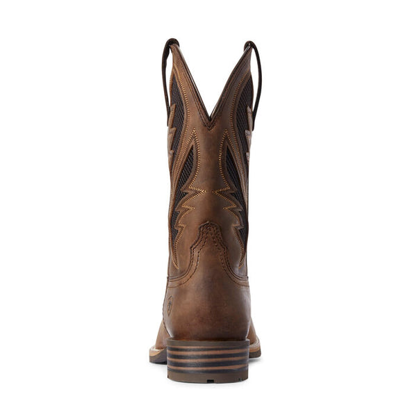 "Ariat Men's 11"" Hybrid VentTEK Western Boot - Distressed Tan 10031454 - ShoeShackOnline"