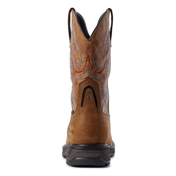 "Ariat Men's 11"" Workhog XT Waterproof Wide Square Toe Work Boot - Brown 10031474 - ShoeShackOnline"