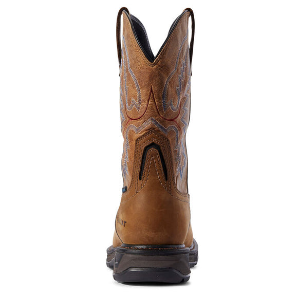 "Ariat Men's 11"" Workhog XT Waterproof Carbon Toe Work Boot - Brown 10031483 - ShoeShackOnline"