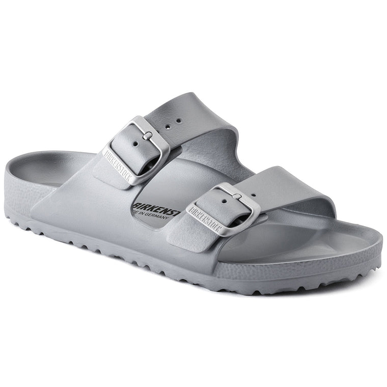 Birkenstock Women's Arizona EVA Sandal Metallic Sliver - 1003491 - ShoeShackOnline