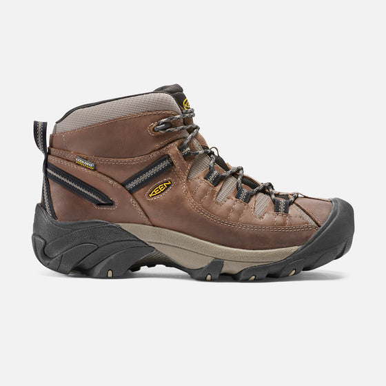 Keen Men's Targhee II Mid Waterproof Hiking Boot - Shitake/Brindle 1008418 - ShoeShackOnline