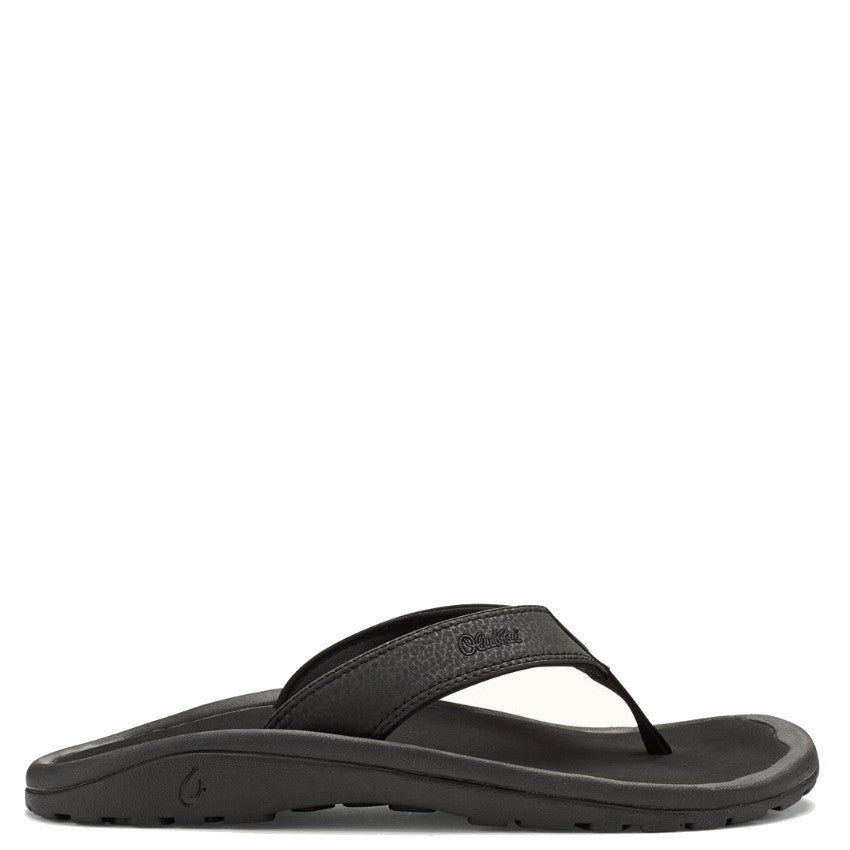 Olukai Men's 'Ohana Sandal - Black/Black 10110-4040 - ShoeShackOnline