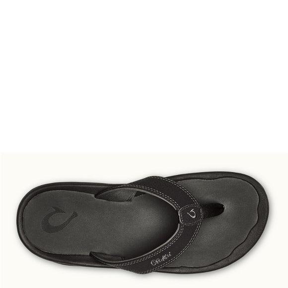 Olukai Men's 'Ohana Sandal - Black/Dark Shadow 10110-4042 - ShoeShackOnline