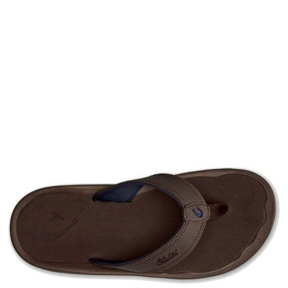 Olukai Men's 'Ohana Sandal - Dark Wood/Dark Wood 10110-6363 - ShoeShackOnline