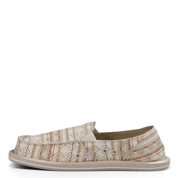 Sanuk Women's Donna Tribal - Natural / Multi Tribal Stripe - 1012946 - ShoeShackOnline