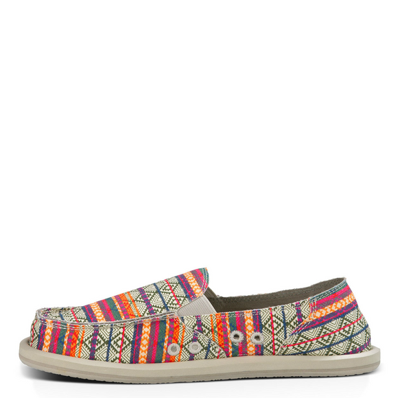 Sanuk Women's Donna Tribal - Olive / Multi Tribal Stripe - 1012946