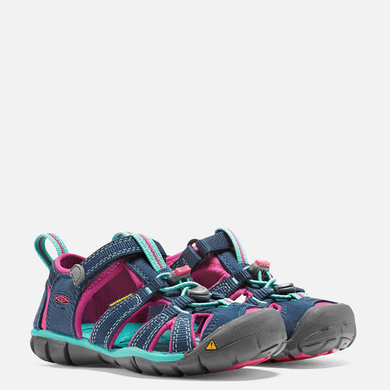Keen Little Kid's Seacamp 11 CNX Sandal - Poseidon/Very Berry 1014124