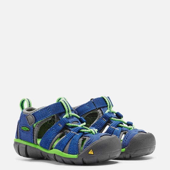 Keen Toddler's Seacamp 11 CNX Sandal - True Blue/Jasmine Green 1014443
