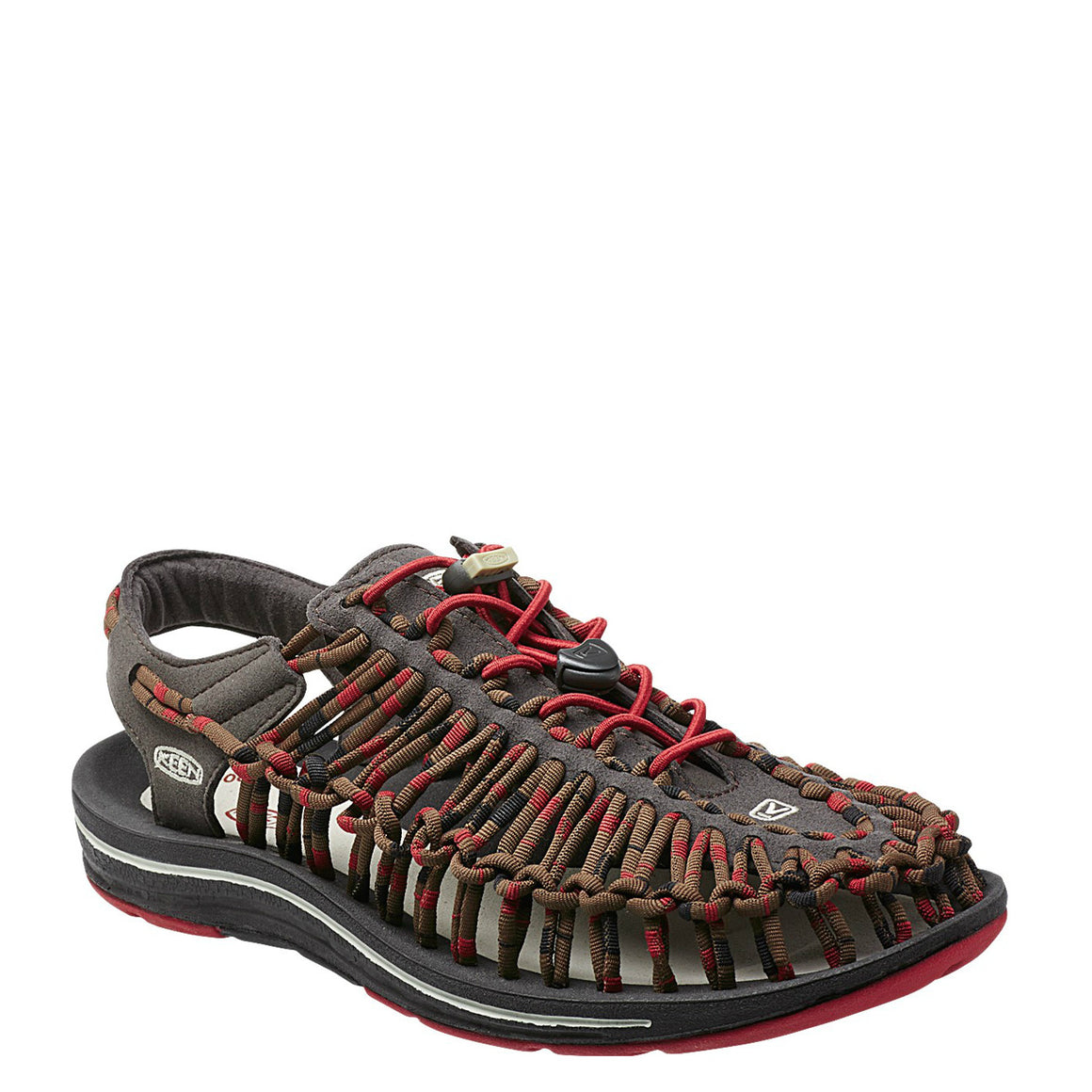 Keen Men's Uneek Round Cord - Red Dahlia/Raya 1014620 - ShoeShackOnline