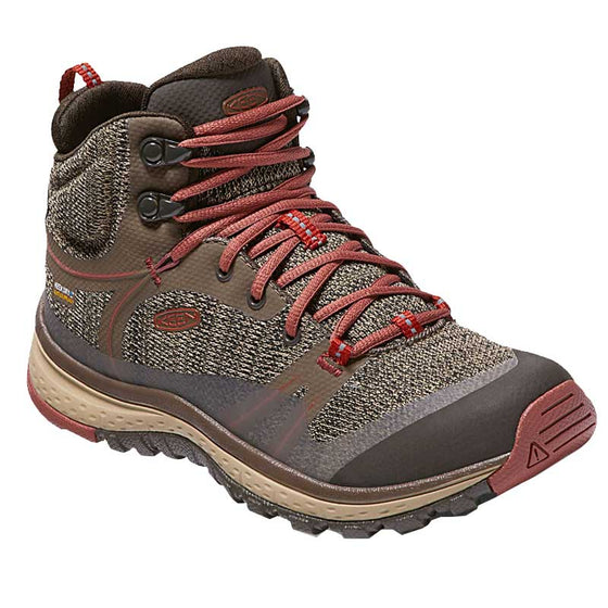 Keen Women's Terradora Mid Waterproof Hiking Boot - Canteen/Marsala 1017687 - ShoeShackOnline