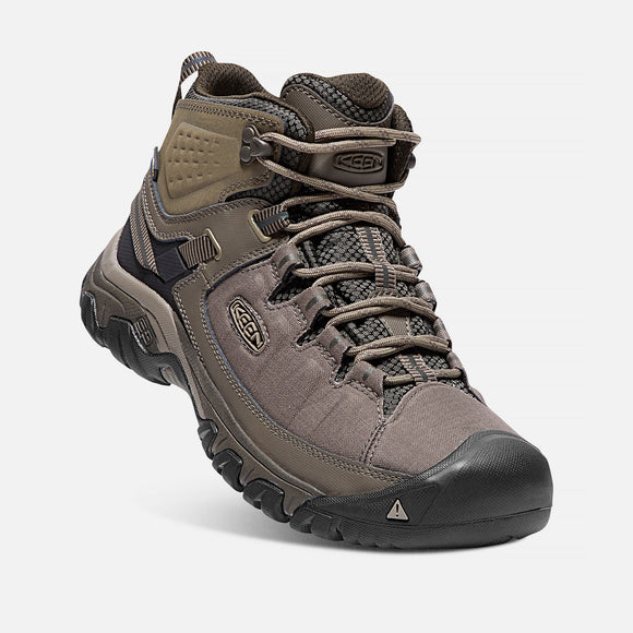 Keen Men's Targhee EXP Mid Waterproof Hiking Boot - Bungee Cord/Brindle 1017714 - ShoeShackOnline