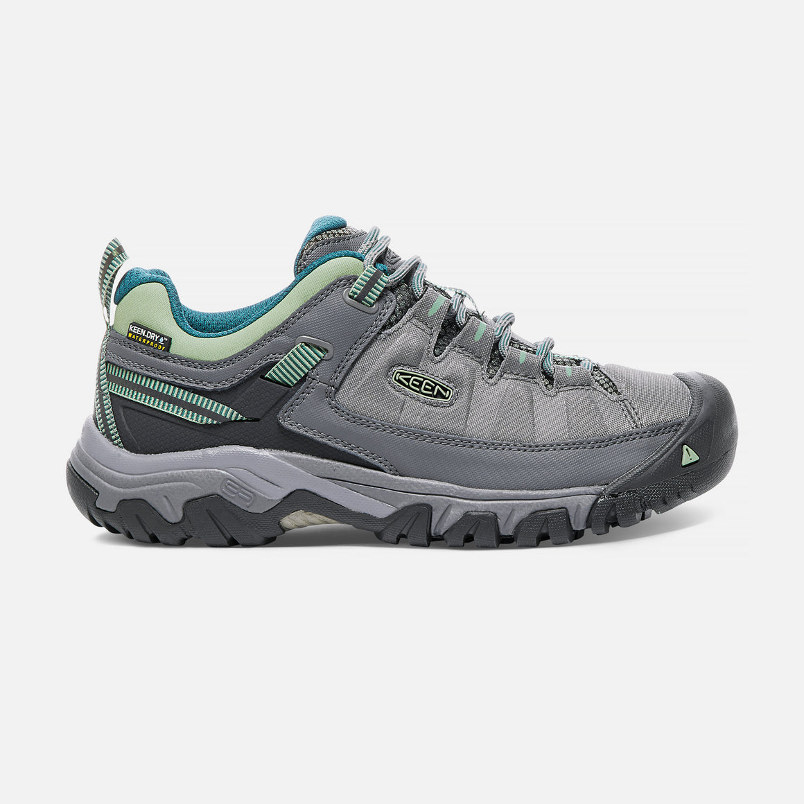 Keen Women's Taeghee EXP Waterproof Hiking Shoe - Steel Grey/Basil 1017746 - ShoeShackOnline