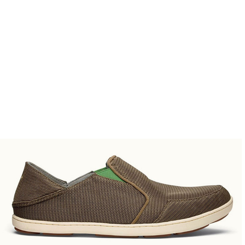 Olukai Men's Nohea Mesh Slip On - Mustang/Lime Peel 10188-13AP