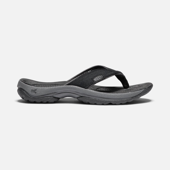 Keen Men's Kona Flip Flop - Black/Steel Grey 1018490 - ShoeShackOnline
