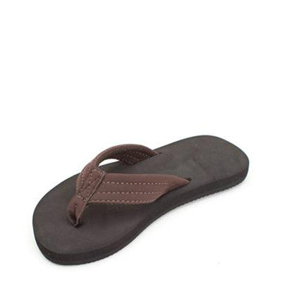 Rainbow Kid's Grombows Flip Flops - Brown 101ST - ShoeShackOnline