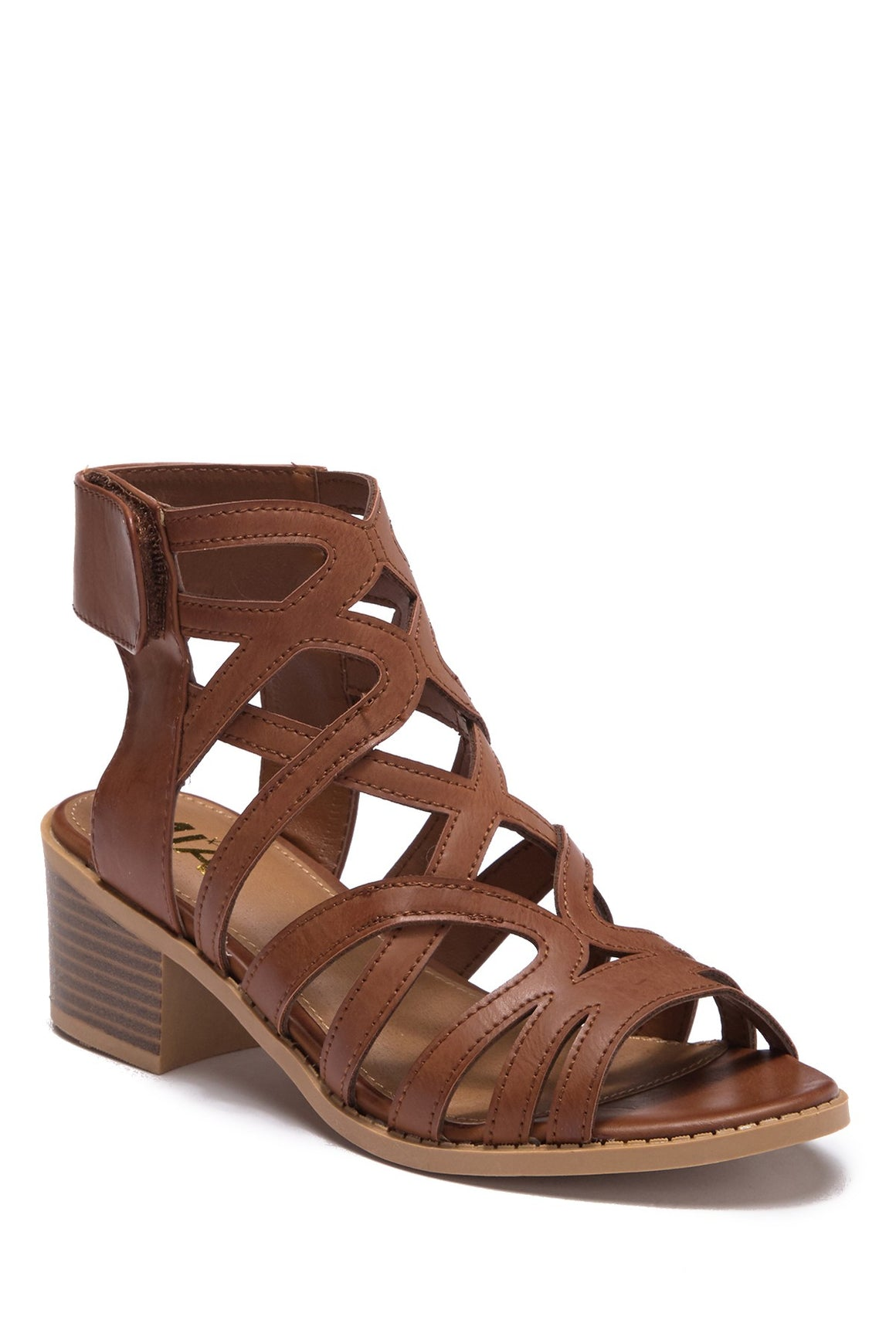 MIA Kid's Emilie Block Heeled Sandal - Tan CSK286