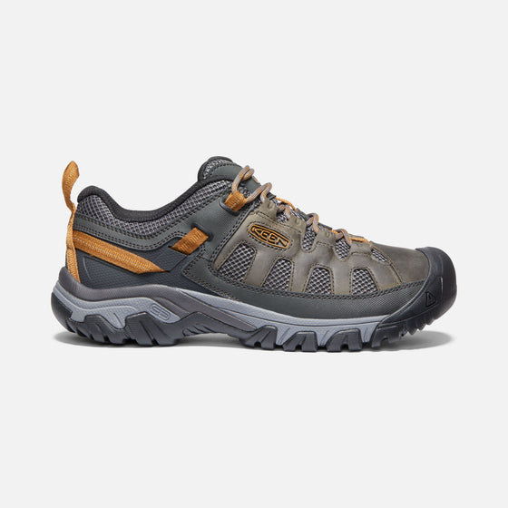 Keen Men's Targhee Vent Hiking Shoe - Raven/Bronze Brown 1020743 - ShoeShackOnline