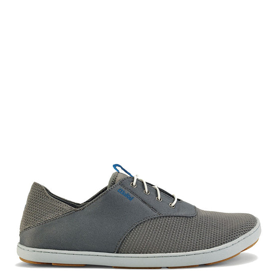 Olukai Men's Nohea Moku Mesh Lace Up - Fog/Charcoal 10283-7B26 - ShoeShackOnline