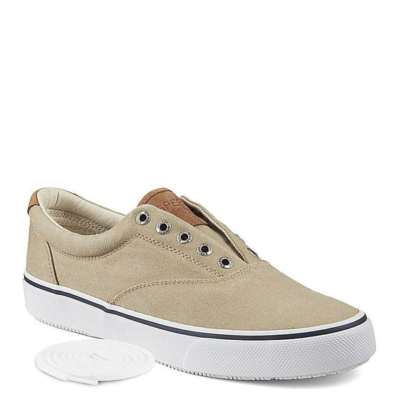Sperry Men's Striper CVO Salt Washed Twill Sneaker - Chino 1048065 - ShoeShackOnline