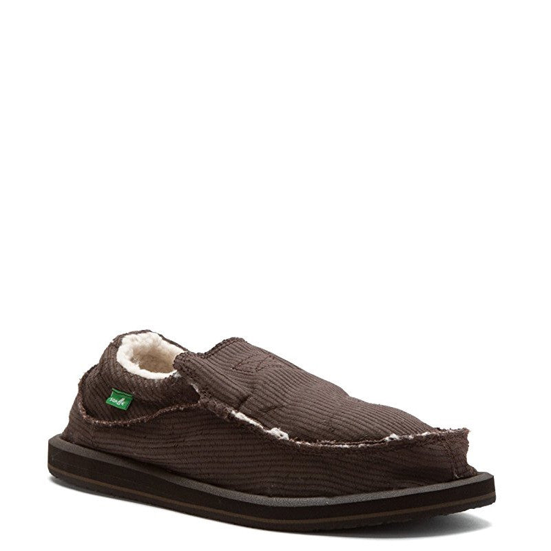 Sanuk Men's Chiba Chill - Dark Brown Waxed Cord SMF10902