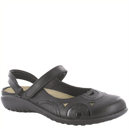 Naot Women's Rongo Mary Jane Slip-On - Jet Black Lthr/Black Patent Lthr 11061 - ShoeShackOnline