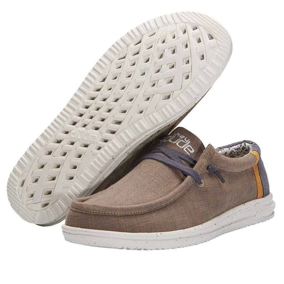 Hey Dude Men's Wally Free Casual Shoe - Natural Beige 112270562
