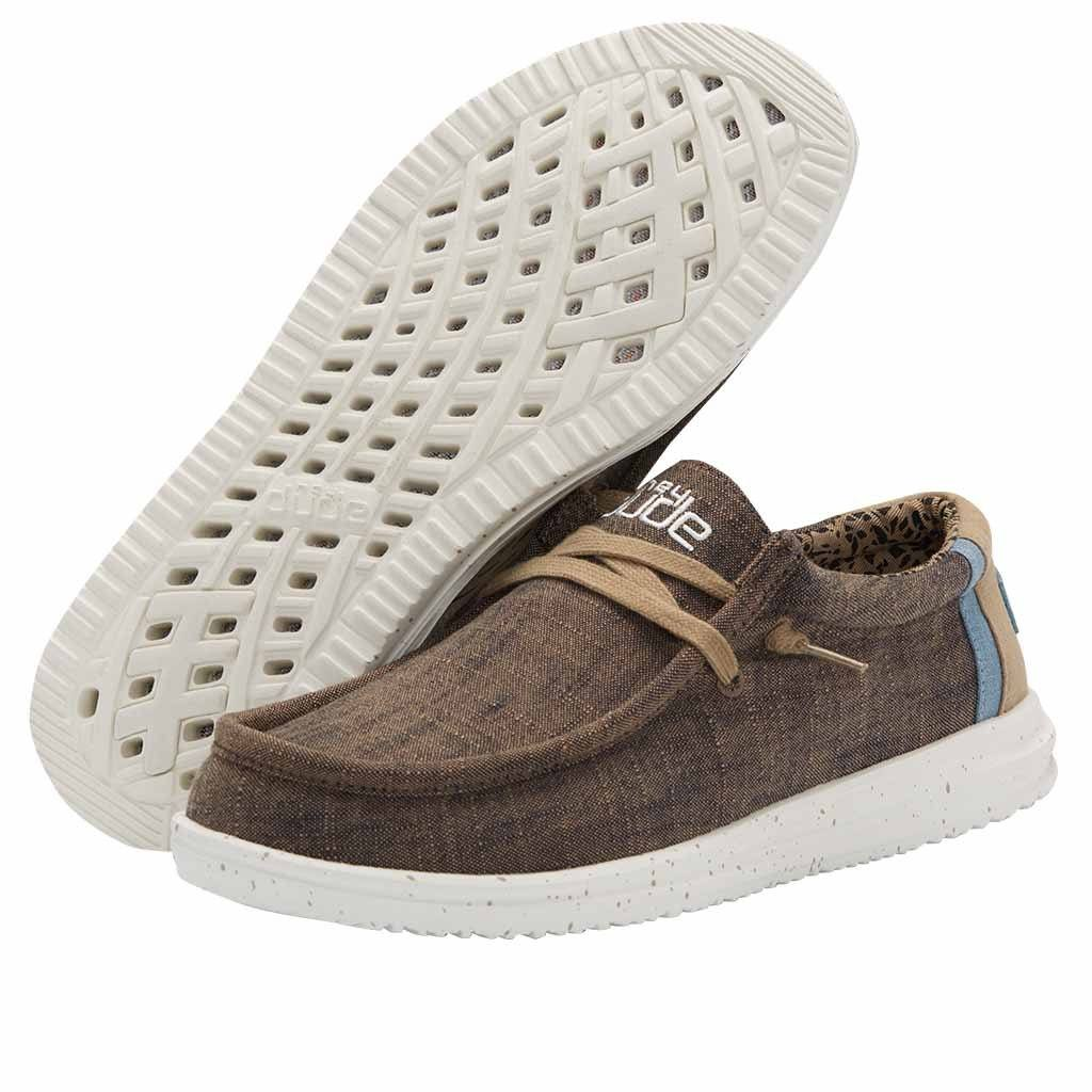 Hey Dude Men's Wally Free Casual Shoe - Natural Cub 112271548