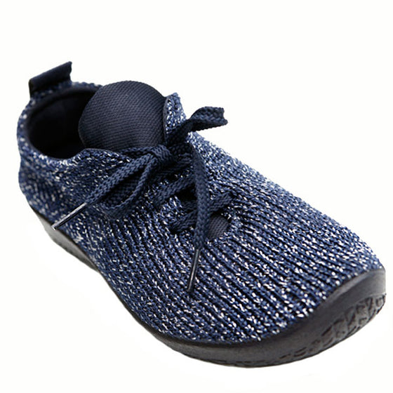 "Arcopedico Women's LS Knit ""Shocks"" Comfort Shoe 1151 Starry Navy"