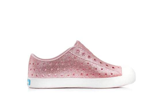 Native Junior's Jefferson Bling Sneaker - Milk Pink/Shell White 12100112-6805 - ShoeShackOnline