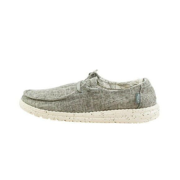 Hey Dude Women's Wendy Slip On Shoe - Linen Iron 121533901