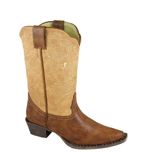 Smoky Mountain Youth Madelyn Western Boots - Brown/Tan 1303 - ShoeShackOnline