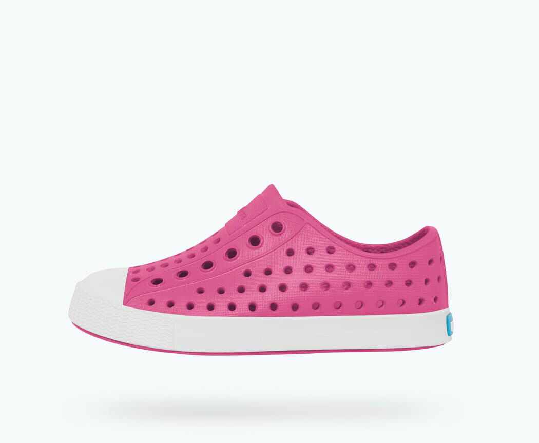 Native Kid's Jefferson Sneaker - Hollywood Pink/Shell White 13100100-5626 - ShoeShackOnline