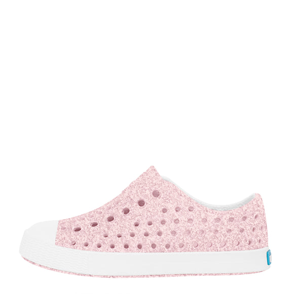 Native Kid's Jefferson Bling Sneaker - Milk Pink/Shell White 13100112 - ShoeShackOnline