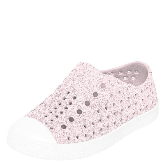 Native Kid's Jefferson Bling Sneaker - Milk Pink/Shell White 13100112