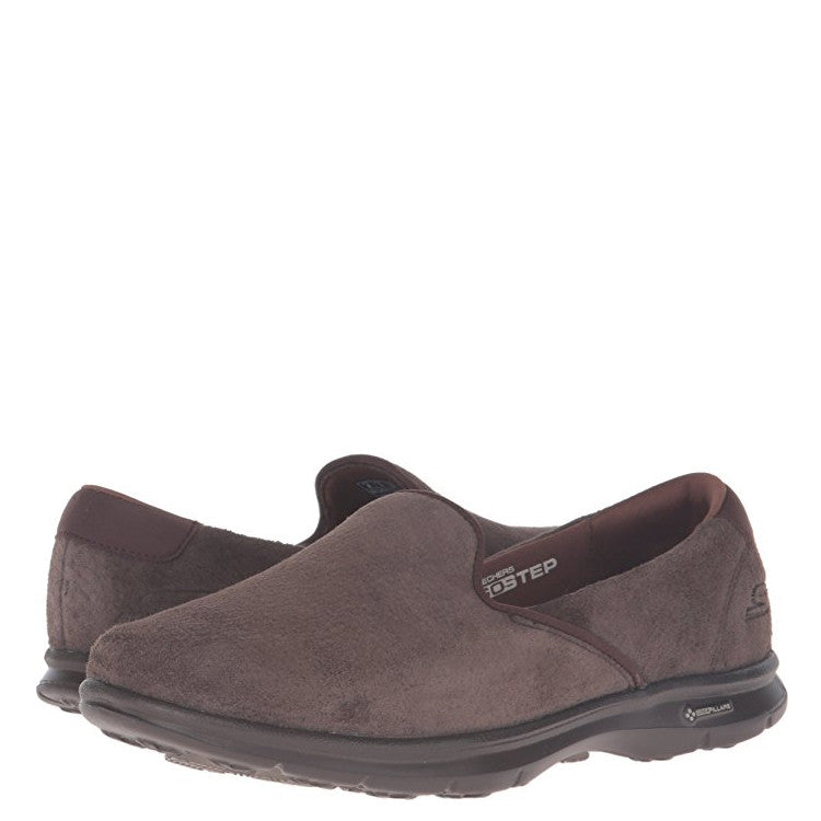 Skechers Women's Go Step Cheery - Chocolate Suede 14300